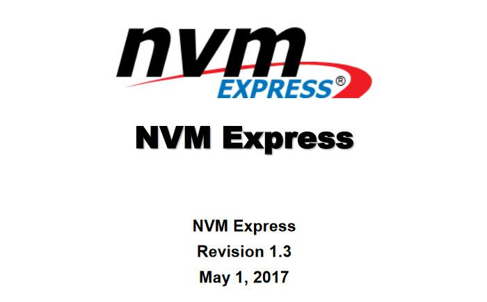 The NVMe standards organization announces the NVMe 1 3 standard
